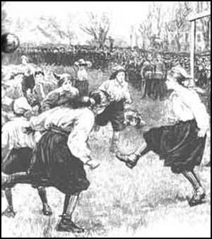1895: Em Crouch End, a primeira partida de futebol feminino na Grã-Bretanha