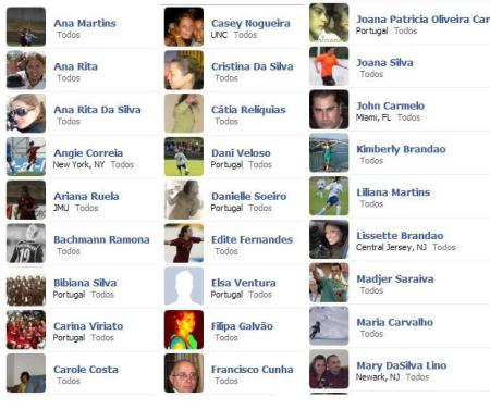 Alguns dos amigos do CPM no Facebook