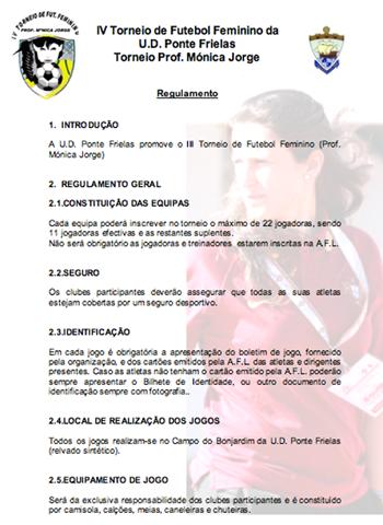 Regulamento do Torneio Mónica Jorge